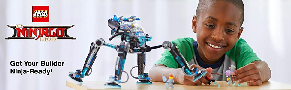 Ninjago Movie, LEGO, building, ninja, creative play, role play, Water Strider, minifigure