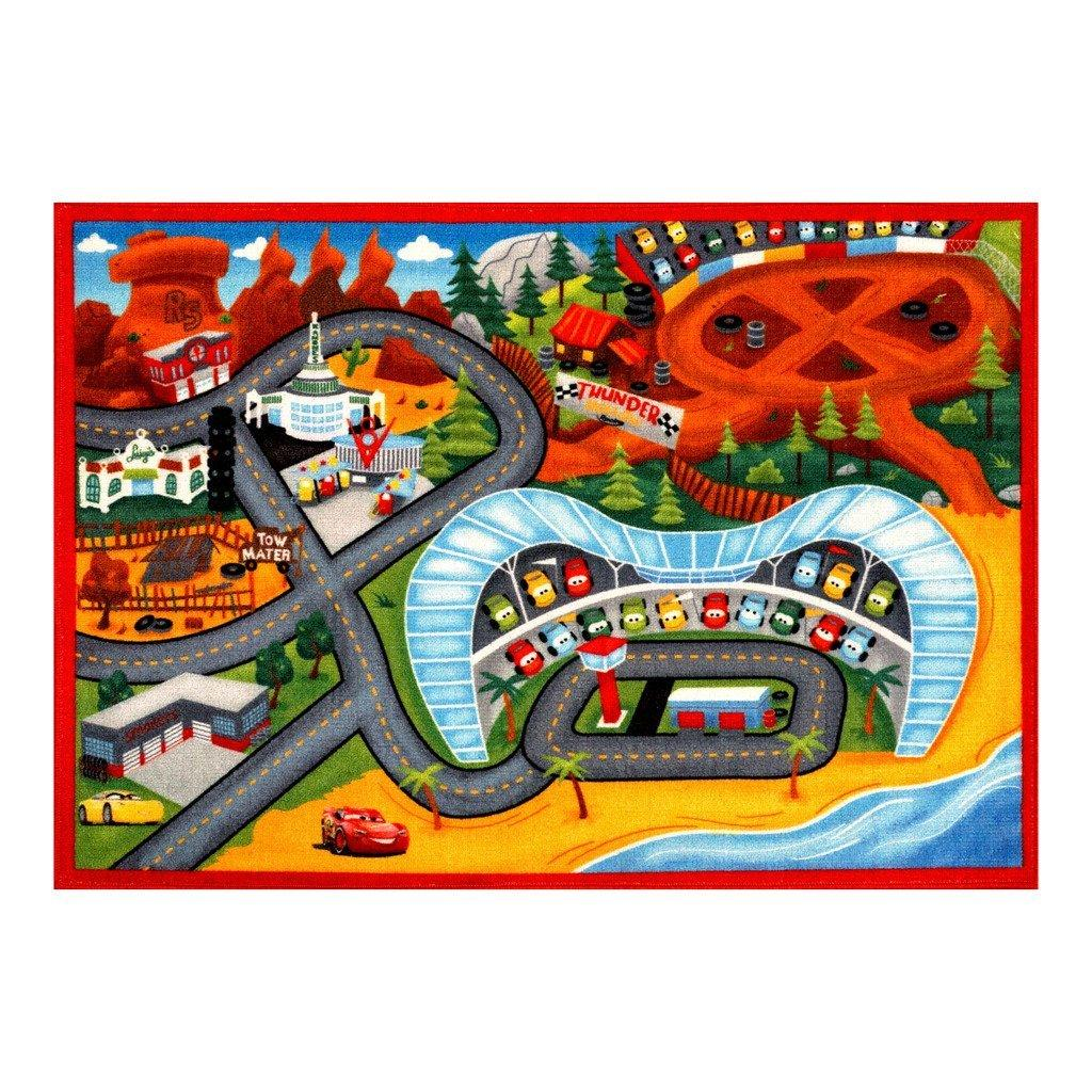 Amazon Com Disney Cars Rug Nitro Edition Toy W Lightning