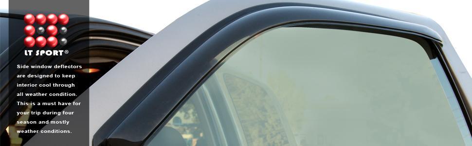 LT Sport Custom Fit 02-07 Saturn VUE Side Window Visor Rain Guard Deflector 4pcs