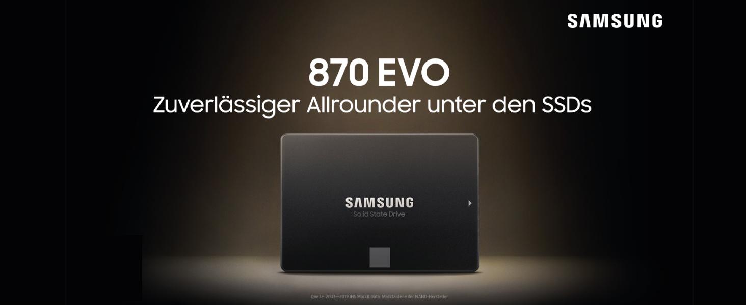 Samsung Ssd 870 Evo 500 Gb Formfaktor 2 5 Zoll Computer Zubehör