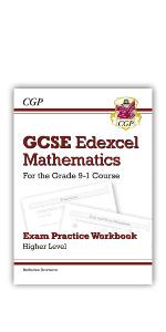 Grade 9-1 GCSE Edexcel Maths Exam Practice Workbook from CGP