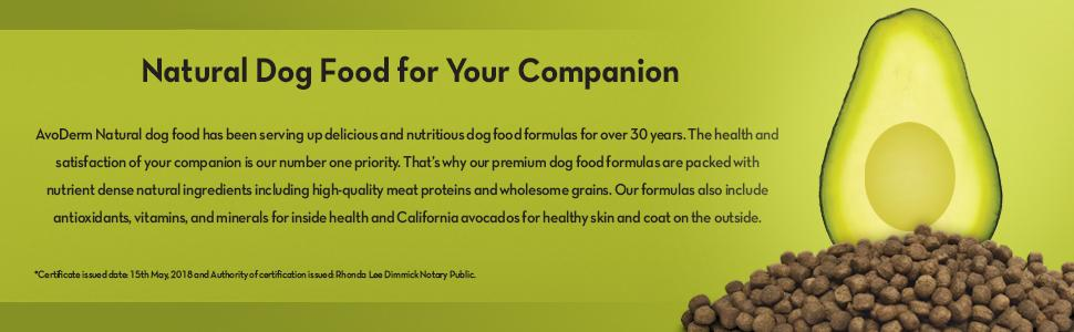 Natural dog food brand