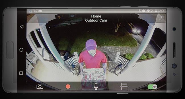 Color Night Vision outdoor cameras Panasonic HomeHawk