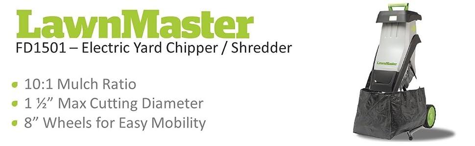 Amazon Com Lawnmaster Fd1501 Electric Chipper Shredder