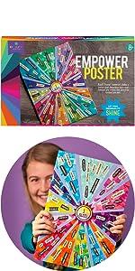 decoupage poster self esteem craft gift for girls craft for kids empowerment craft creativity gift