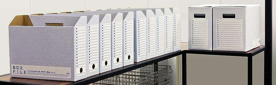 ボックスファイルエコノミータイプA4ブルー