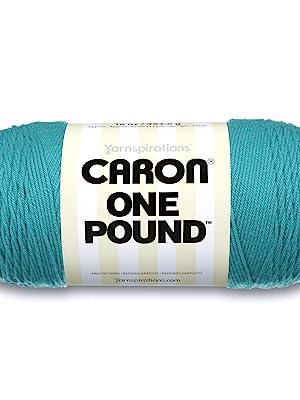 CARON ONE POUND YARN, AQUA