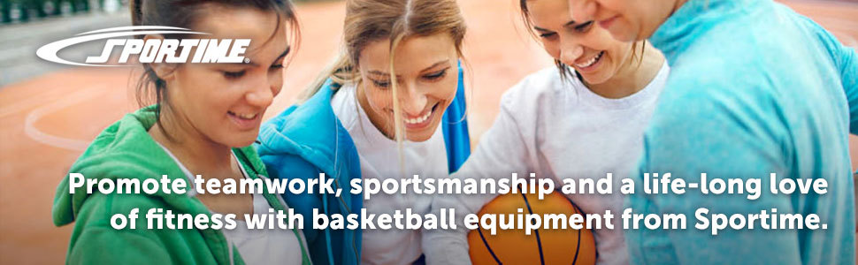 Promote teamwork and a life-long love of fitness with basketball equipment from Sportime.
