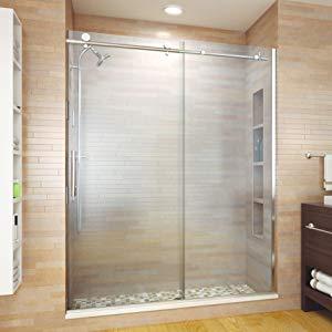 shower door; frameless shower door