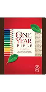 one year, daily devotional, hardcover, reflections, notes, bible journaling, wide margins