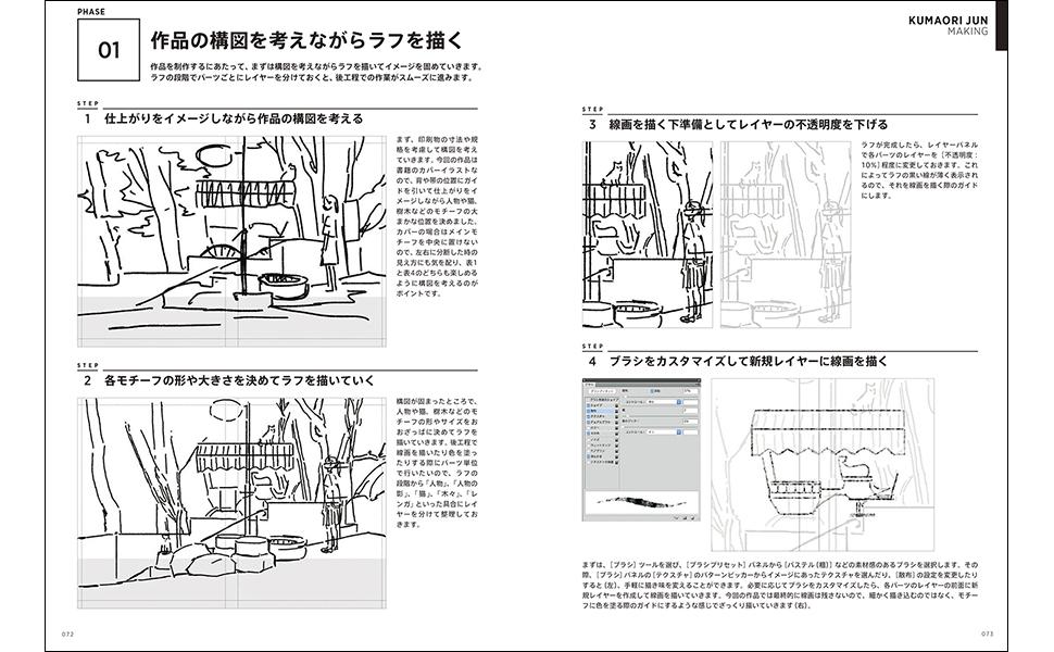 LLUSTRATION MAKING & VISUAL BOOK くまおり純