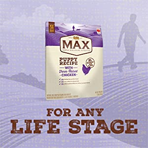 Nutro Max Puppy Farm Raised Chicken Dry Dog Food, for any life stage, puppy food, old dog food