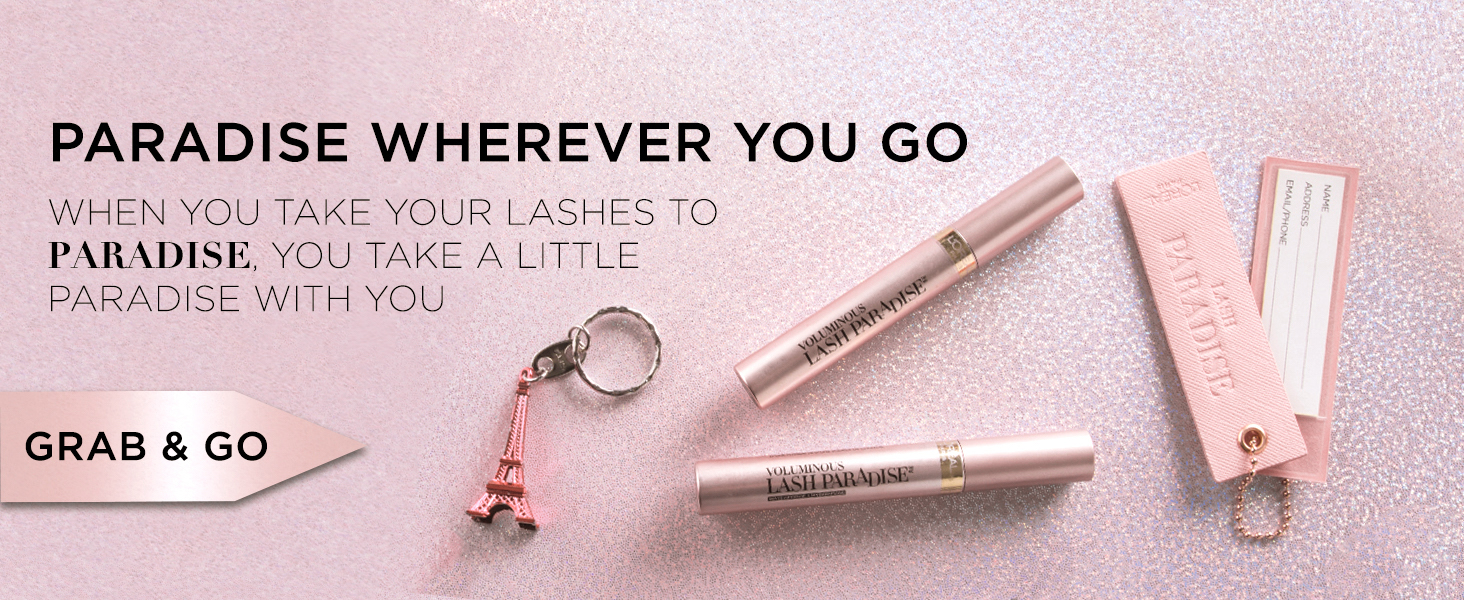 lash paradise mascara, lengthening mascara, volumizing mascara, mascara primer, eyelash primer