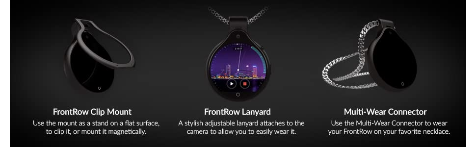 FrontRow FR Wearable Lifestyle Camera, Black 18