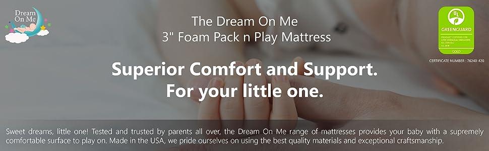 Dream on me Mattress, pack and play mattress, mattress for babies, mattress for infant