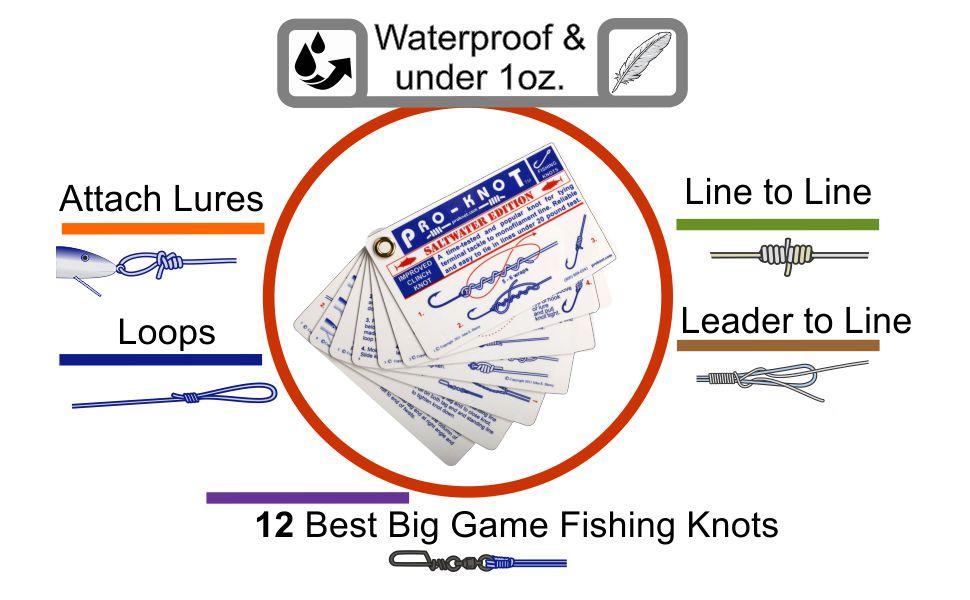 Pro-Knot PKFS200 Waterproof Tackle Saltwater Fishing Line Knots Guide