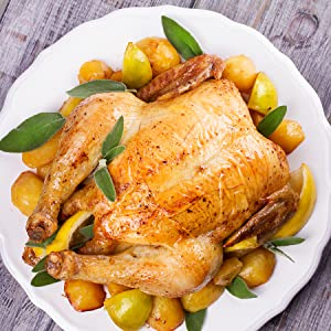 Chicken cooked in the Multi Mode Air Fryer from Gourmia.