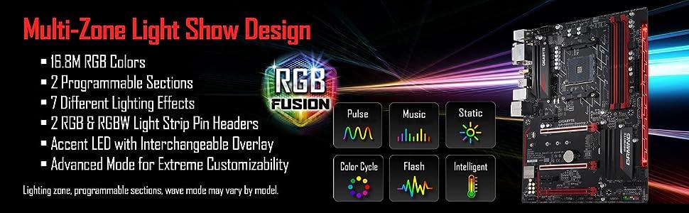 GIGABYTE GA-AB350-Gaming 3 (AMD RYZEN AM4/ B350/ RGB Fusion/ Smart Fan 5/  HDMI1 4/ M 2/ SATA 6Gbps/ USB 3 1 Type-A/ ATX/ DDR4/ Motherboard)