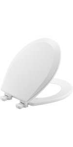 toilet seat, bemis, mayfair, kohler, church, wood,  secure, stay in place, round, elongated