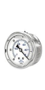 Professional Grade Pressure Gauge, Dual Scale