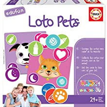 Educa- Edufun Loto Pets Juego de mesa para niños: Aprende a cuidar de tu mascota, a partir de 24 meses (18125): Amazon.es: Juguetes y juegos