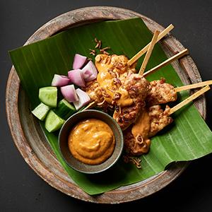 satay, knorr, chicken, malaysian, sauce