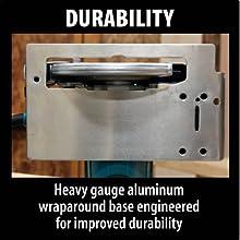 durability heavy gauge aluminum wraparound base engineered improved durable