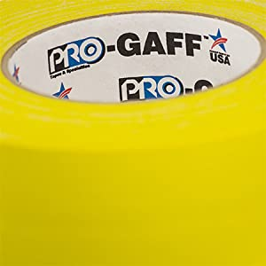 Pocket Pro Gaff Fluorescent Yellow Gaffers Tape 2 inch X 6  yards on small core