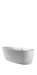 Ove Decors Leni 66 Freestanding Bathtub, 66-Inch