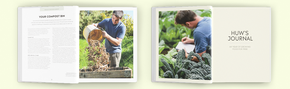 Grow Food For Free page spreads