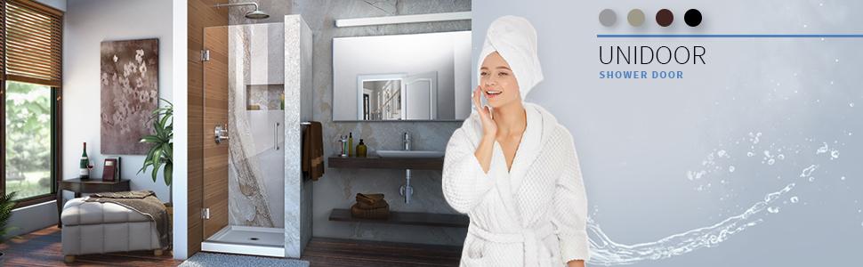 DreamLine, DreamLine Unidoor Shower door, shower door, hinged shower door, Unidoor shower door, 30