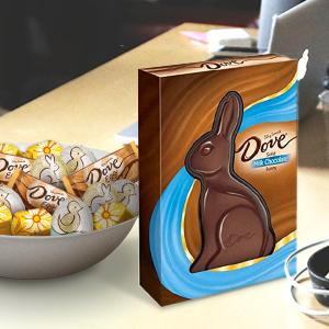 Amazon dove milk chocolate solid easter bunny 12 ounce chocolate novelty gifts negle Gallery
