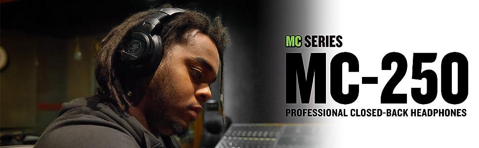 Mackie, MC250, MC-250, MC 250, headphones