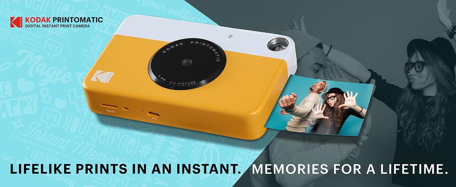 Kodak PRINTOMATIC Digital Instant Print Camera (Yellow), Full Color Prints  On ZINK 2x3
