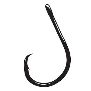 Gamakatsu Octopus Hook Size 4//0 NS Black per 6 Fishing Hooks 02414 for sale online