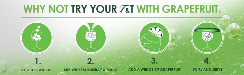 Tanqueray Ten Gin & Tonic with Grapefruit