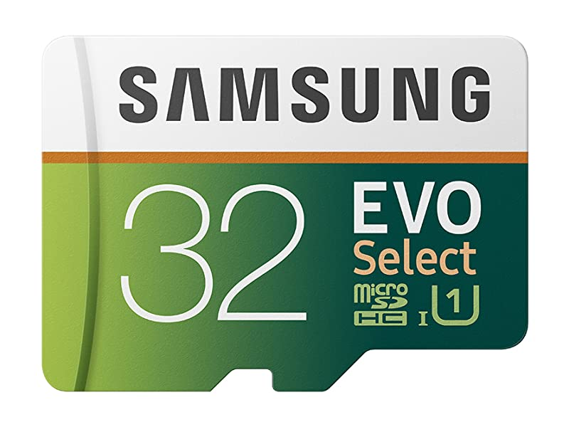 Samsung 32GB 100MB/s (U3) MicroSDXC EVO Select Memory Card with Full-Size Adapter (MB-ME32GA/AM)