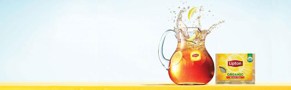 Lipton Organic Black Tea Bag Banner