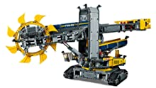 Motorized functions include moving conveyor belts and rotating superstructure