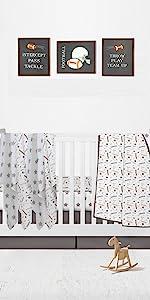 4 Piece Nursery Baby Crib Bedding Set for Boys