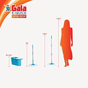 Large Gala Mop with Height Scale