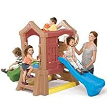 Amazon.com: Step2 Play Up Double Slide Kids Climber: Toys & Games