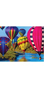 colorful hot air balloon landscape jigsaw puzzle