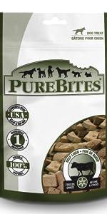 beef; purebites; dog; treats