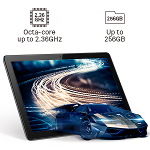 octa-core processor with a main frequency up to 2.36GHz gives you great performance up to 256GB