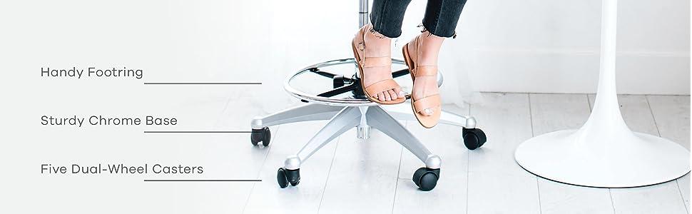 Drafting Chair, Drafting Stool, Standing Desk, Adjustable Drafting Chair,  Black, Studio