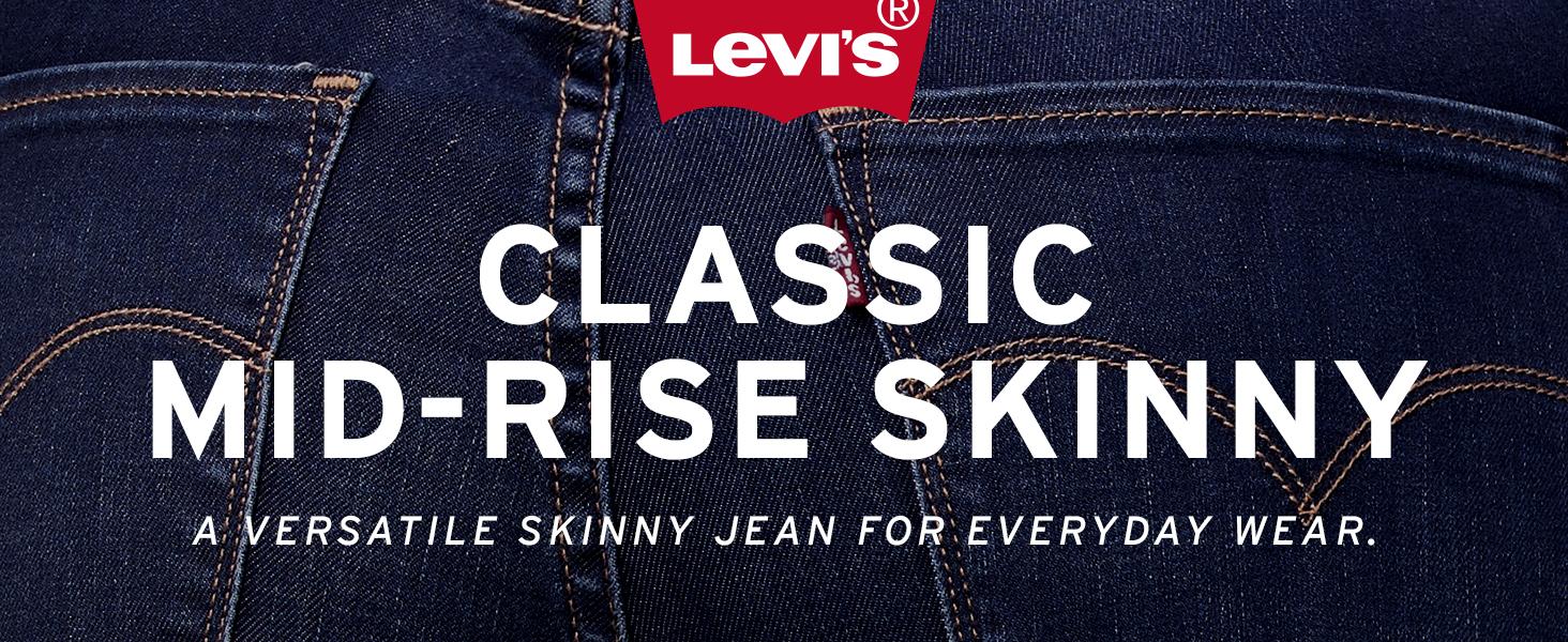 Womens Levis Classic Mid Rise Skinny Jean