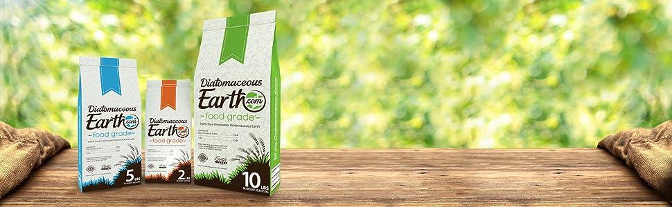 2 lb 5 lb 10 lb bags of food grade diatomaceous earth