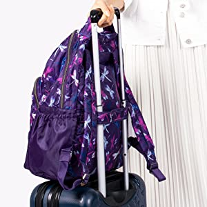 backpack with trolley sleeve, backpack for luggage, backpack for travel