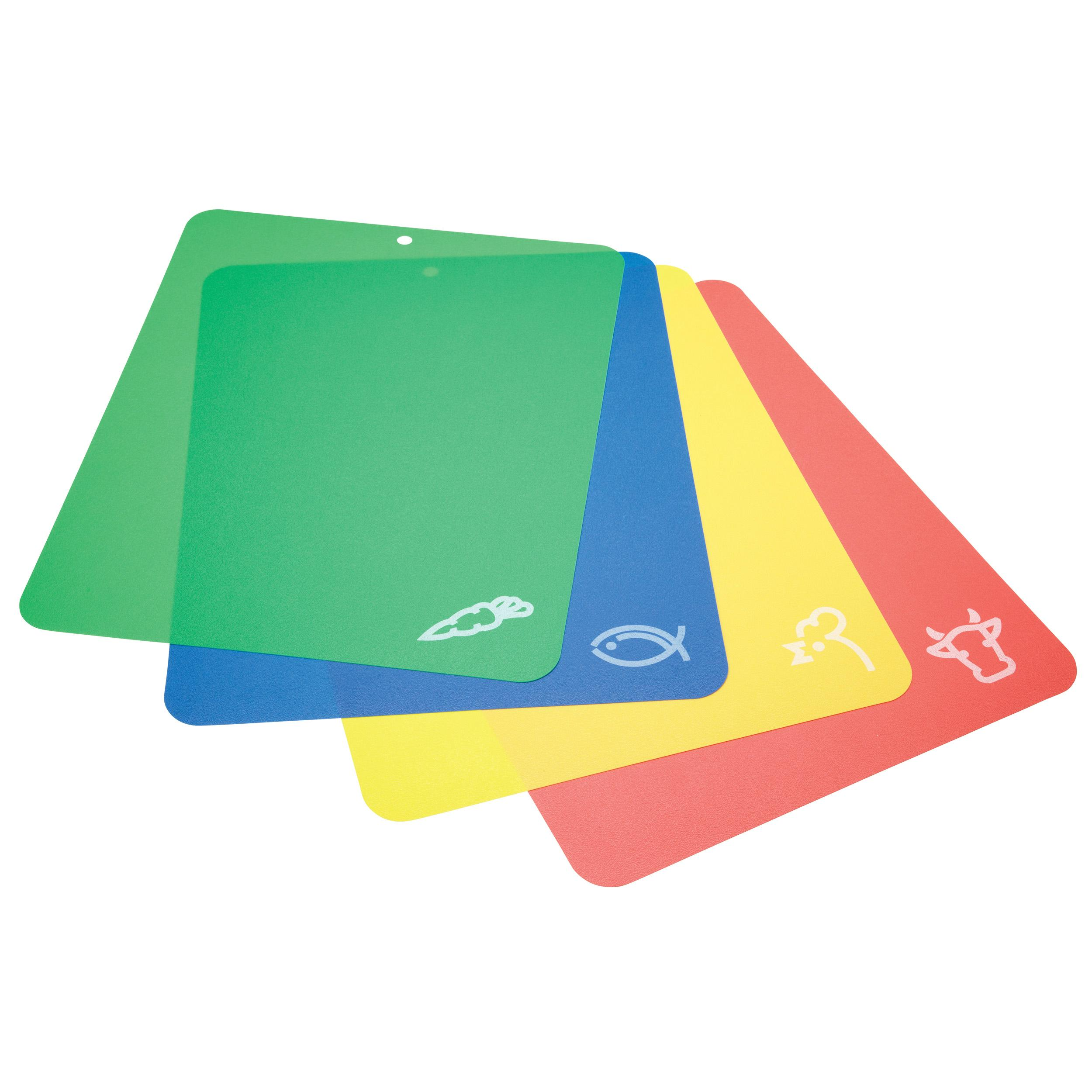 The item for sale is premier set of 5 coloured flexible chopping - Kitchencraft Plastic Colour Coded Chopping Board Set Flexible